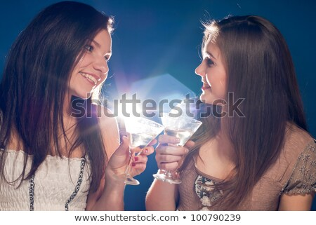 Jovem luz mulher estudante fundo azul Foto stock © rosipro