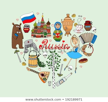 кукол · традиционный · русский · цветочный · шаблон - Сток-фото © dayzeren
