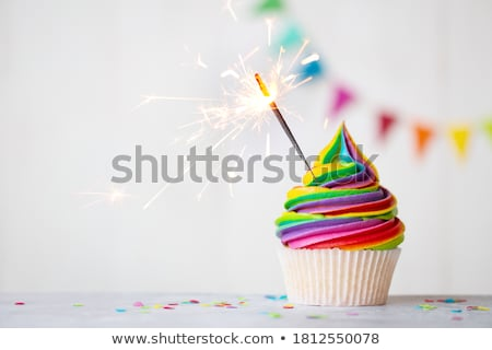 Cupcake with frosting Stock photo © ozaiachin