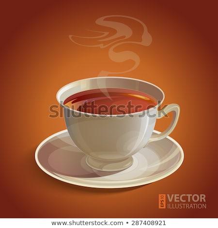 Кубок · чай · оранжевый · Ломтики · изолированный · белый - Сток-фото © justinb