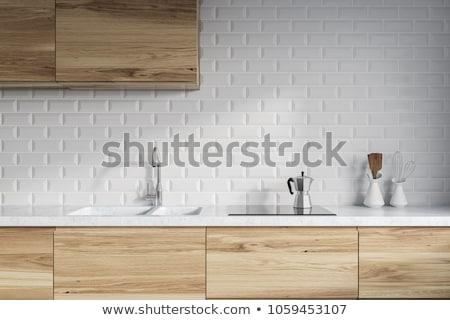 fogão · alcance · cozinha · moderno · elétrico · tecnologia - foto stock © macsim