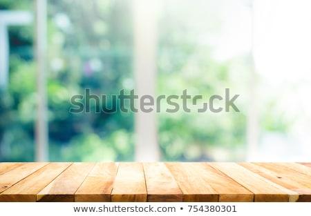 ウィンドウ · 木製 · 家 · 白 · カーテン · 木材 - ストックフォト © smuki