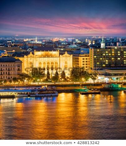 Concerto ouvir fachada Budapeste Hungria janela Foto stock © rognar
