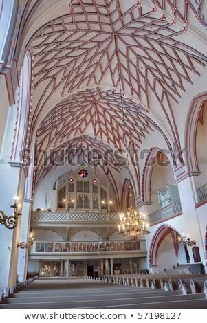 Içinde Riga kilise görmek Letonya şehir Stok fotoğraf © sophie_mcaulay