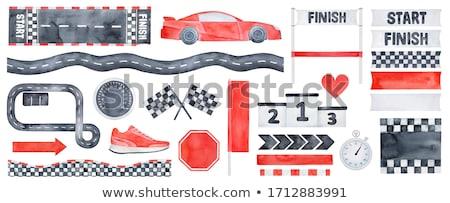 Speeding racer on racetrack stock photo © Forgiss