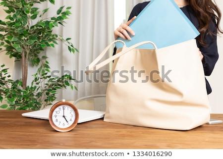tempo · casa · relógio · retro · papel · de · parede - foto stock © tab62