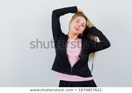 Portrait of alluring brunette lady  Stock photo © konradbak