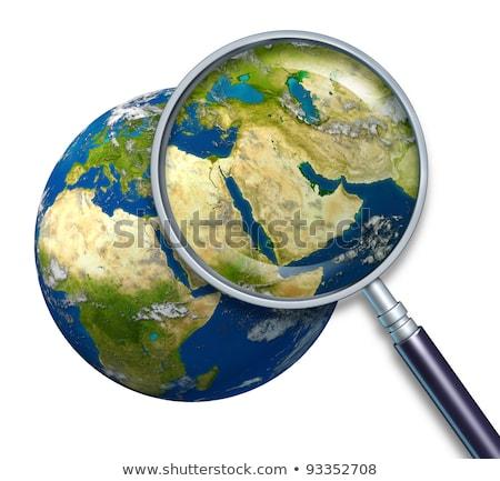 Aarde midden oosten crisis politiek olie Stockfoto © Lightsource