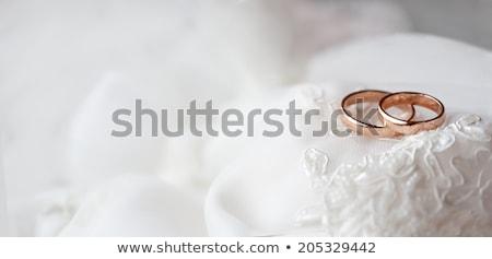 Alyans halka yastık bo Stok fotoğraf © cobaltstock