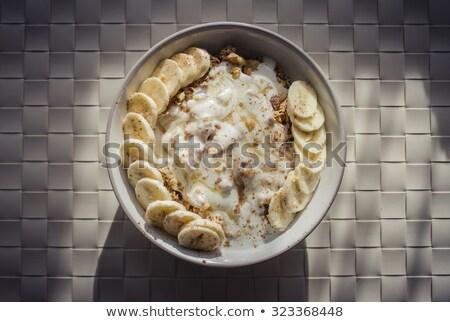 iogurte · isolado · branco · comida · leite · vida - foto stock © m-studio
