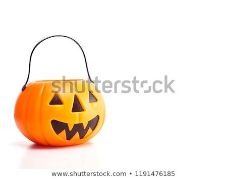 Odizolowany plastikowe dynia pomarańczowy szczęśliwy oczy Zdjęcia stock © TeamC