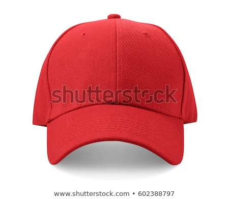 Rouge baseball chapeau isolé blanche tête Photo stock © exile7