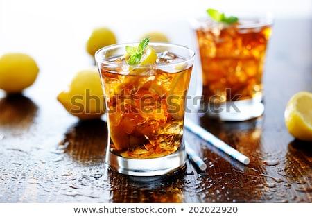 Narenciye geniş cam buz martini cam yalıtılmış Stok fotoğraf © snyfer