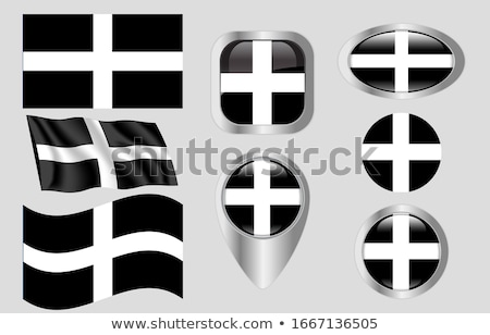 Cornwall zászló nagy méret emberek kisebbségi Stock fotó © tony4urban