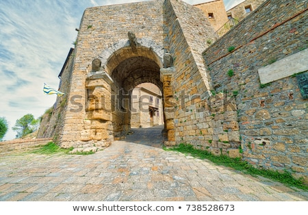 Ancient Etruscan Gate of Volterra in Italy Stock photo © anshar