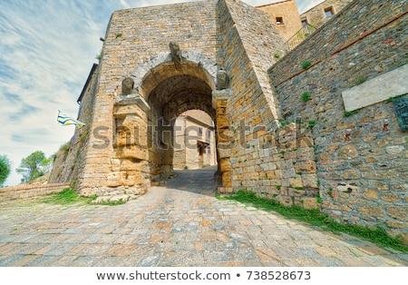 medieval · calle · ciudad · Toscana · Italia · casa - foto stock © anshar