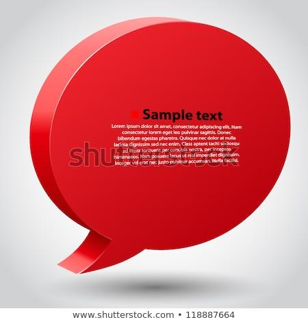 Faq rouge texte 3d isolé blanche éducation Photo stock © tashatuvango