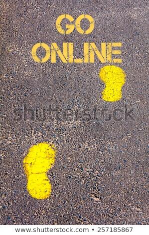 Time For Go Online, Business Concept. Stock photo © tashatuvango