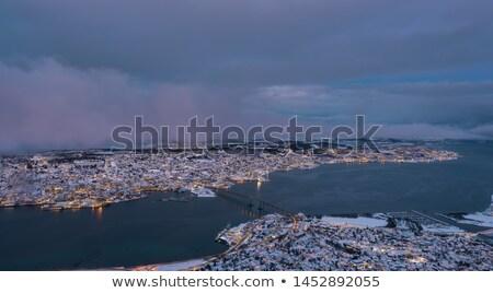 Tromso Cityscape winter mist Norway Stock photo © vichie81
