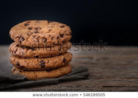 チョコレート · チップ · クッキー · ピーナッツ · 孤立した · 白 - ストックフォト © stevanovicigor