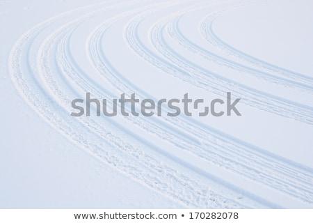 Araç lastik kar kaygan yol doku Stok fotoğraf © Anterovium
