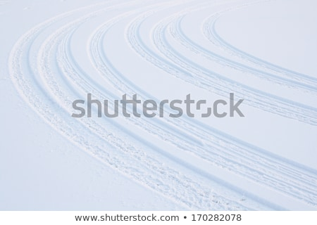 Veicolo gomme neve scivoloso strada texture Foto d'archivio © Anterovium