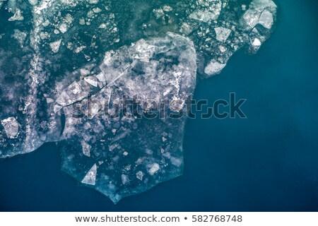 kırık · buz · yüzey · büyük · mavi · nehir - stok fotoğraf © ryhor