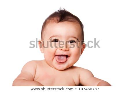 ребенка лице глазах фон рот портрет Сток-фото © nikkos