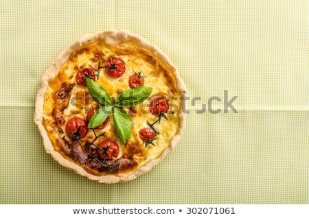 bacon quiche with a tomato stock photo © raphotos