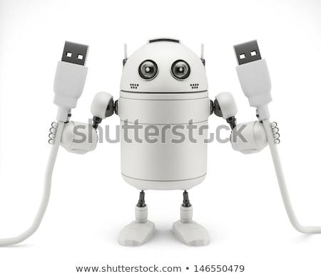 Robô mão usb cabo computador homem Foto stock © Kirill_M