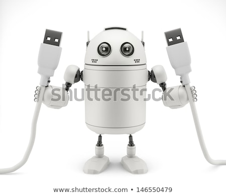 robot · tel · kablo · 3d · render · Metal · gelecek - stok fotoğraf © kirill_m