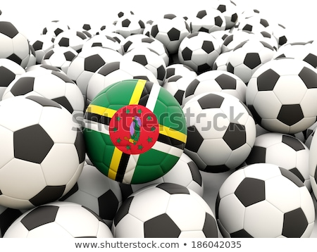 Zászló Dominika futball csapat vidék Stock fotó © MikhailMishchenko