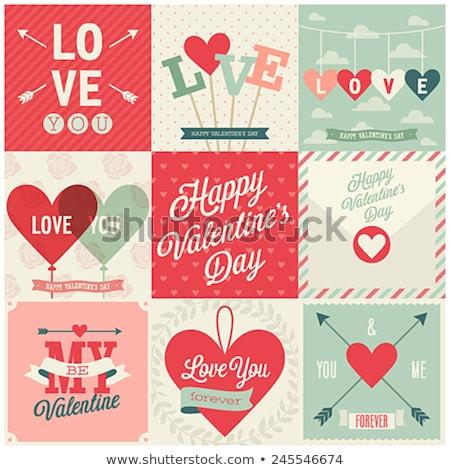 Vintage Greeting Valentine Card Stock photo © MasaMima