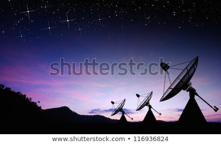 Morning sun and satellite dish Stock photo © nuttakit
