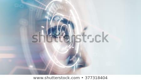 Cyfrowe wizji oka kod binarny Internetu Zdjęcia stock © Lightsource