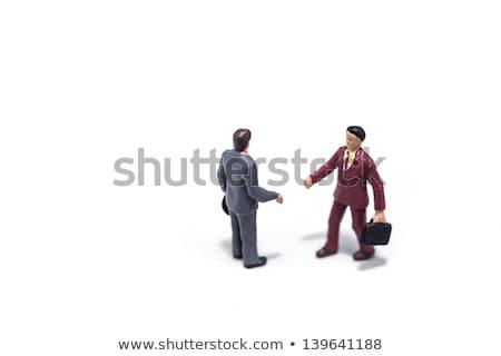 2 ビジネス 男性 契約 小 ストックフォト © shanemaritch