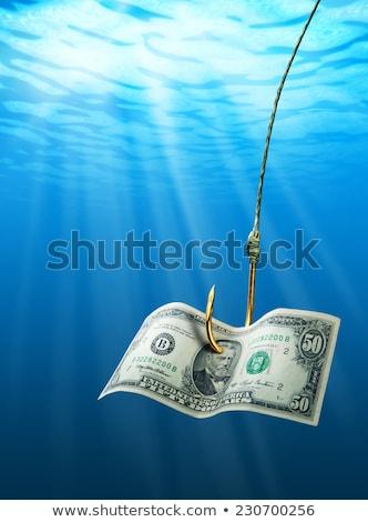 balık · tutma · kanca · dolar · atış - stok fotoğraf © devon