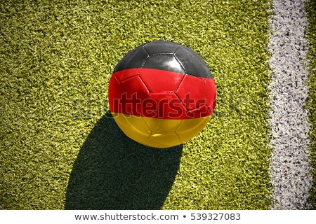 Soccer ball with Germany flag on pitch Stock photo © stevanovicigor