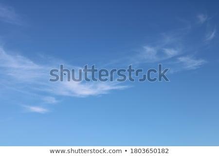 Kék ég vékony felhők trópusi nap délután Stock fotó © azamshah72