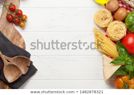 сушат · пасты · границе · спагетти · аннотация · белый - Сток-фото © natika