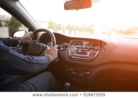 автомобилей драйвера интерьер приборная панель рук градиент Сток-фото © Winner
