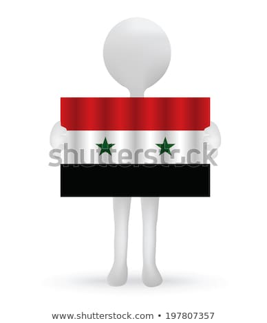 small 3d man holding a Syrian Flag Stock photo © Istanbul2009