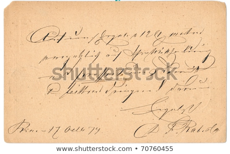 vintage postcard with handwritten message stock photo © andromeda