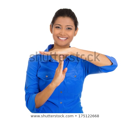 Indian young woman showing timeout signal Stock photo © bmonteny