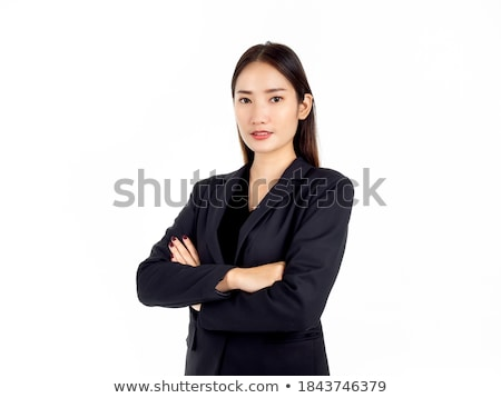 portret · ernstig · jonge · asian · vrouw · permanente - stockfoto © bmonteny