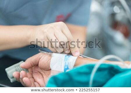 Ouvrir intraveineuse fluide main médecin médicaux Photo stock © chanawit