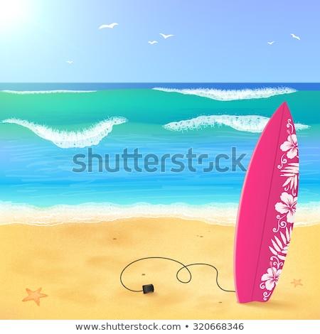 Vektor hullám absztrakt háttér tapéta tiszta Stock fotó © rioillustrator