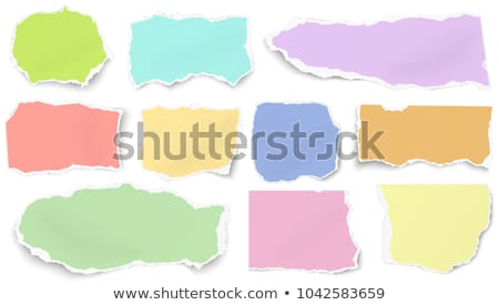 Vector tear paper in green color Stock photo © punsayaporn