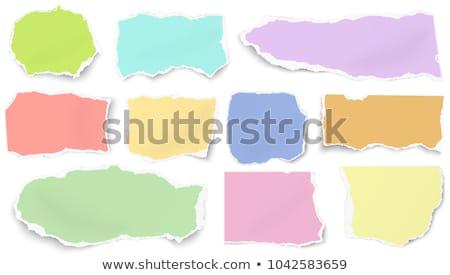 Vecteur larme papier vert couleur eps10 Photo stock © punsayaporn