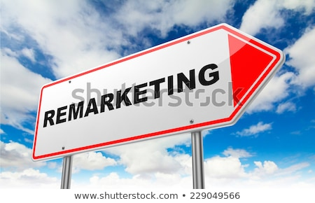 Маркетинговая · стратегия · дорожный · знак · бизнеса · дороги · облаке · Billboard - Сток-фото © tashatuvango